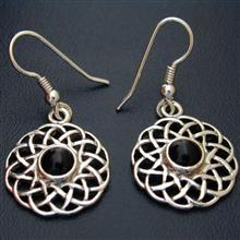 Calanais Onyx Silver Earrings