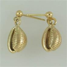 Gold Cowrie Earrings