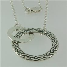 Hebridean Entwined Silver Celtic Large Circle