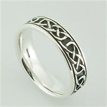 Iona Ring Plain Silver