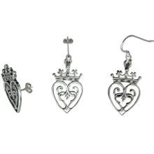 Queen Mary Silver Earrings