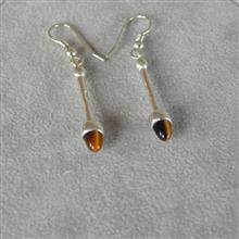 Sollas Silver Earrings Tigers Eye